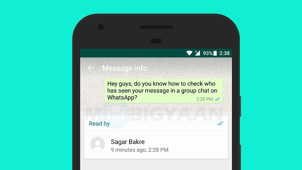 How to check who has seen your message in WhatsApp group ...  |Chase Check App Android Text Message