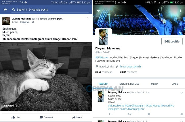 how to connect facebook twitter and instagram accounts