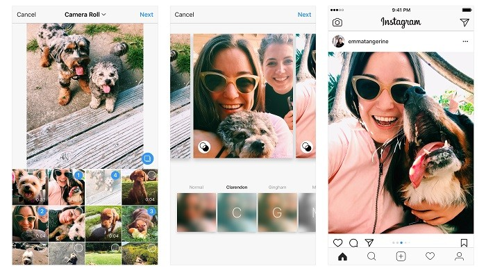 how to add multiple photos to instagram