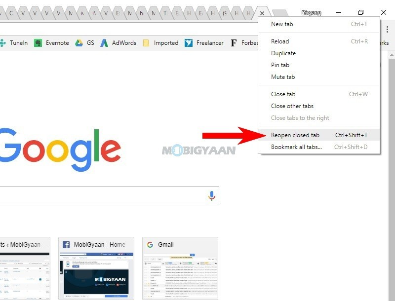How to reopen closed tab on Chrome Desktop [Easy Guide]