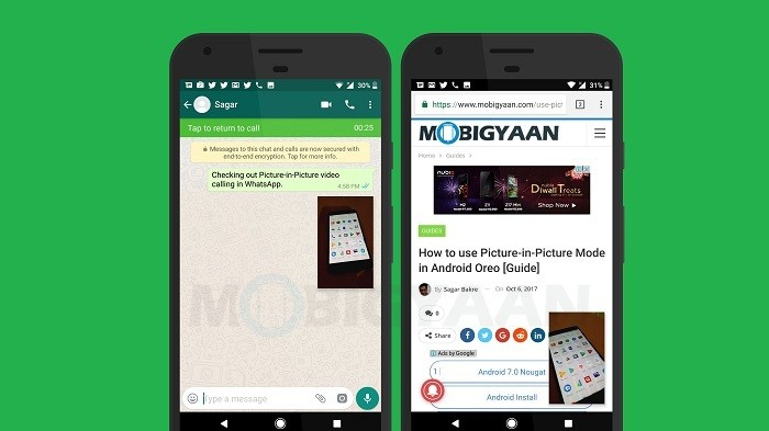 How to use Picture-in-Picture Mode video calling in WhatsApp