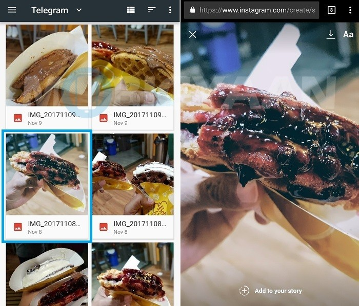 how-to-post-instagram-story-mobile-web-browser-android-2