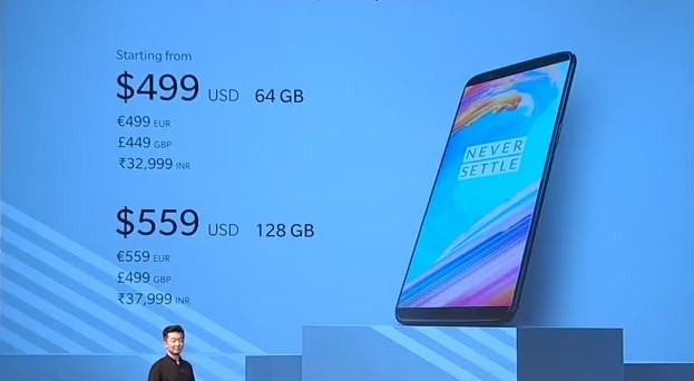 oneplus-5t-official-price