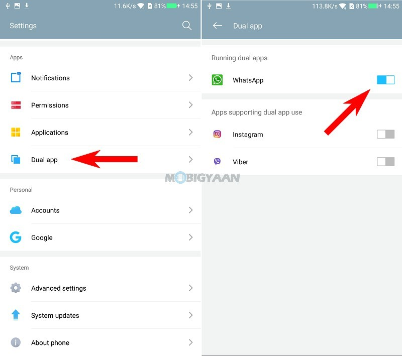 How-to-enable-two-WhatsApp-accounts-on-Coolpad-Cool-Play-6-Guide-3