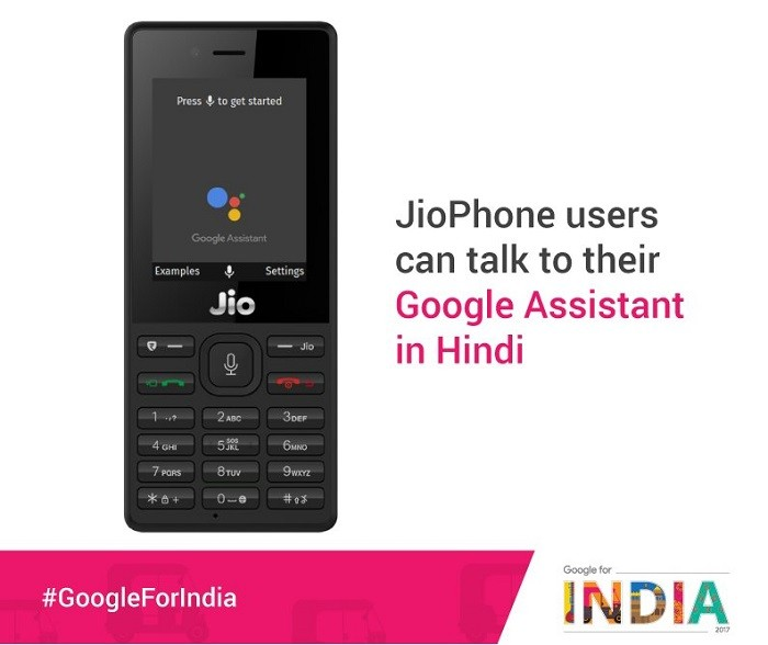 Google Voice Assistant comes to JioPhone