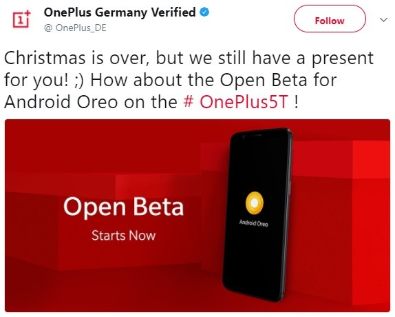 oneplus-germany-5t-oreo-beta-tweet