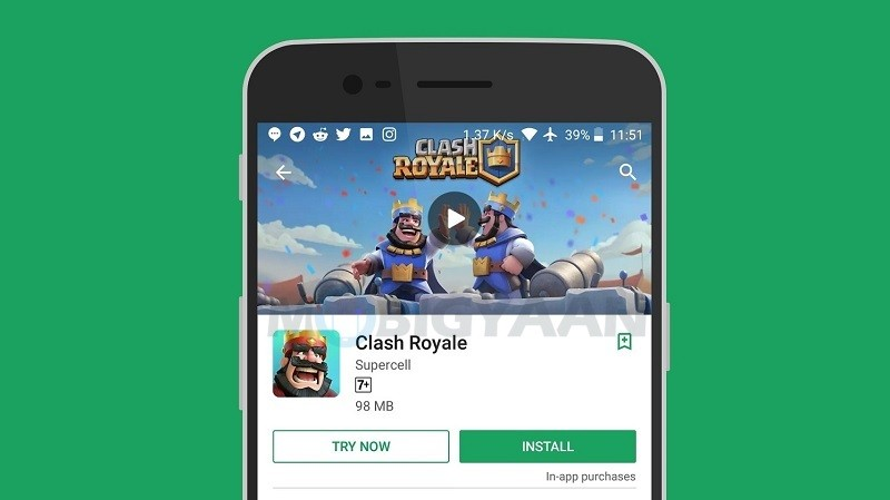 You can now play a game without installing it on your Android device