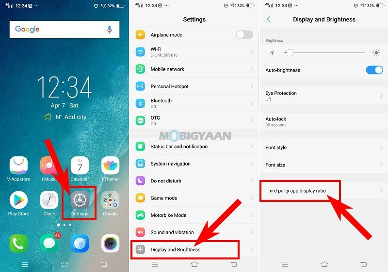 How to get rid away of notch cut-outs in apps [Vivo V9 Guide]