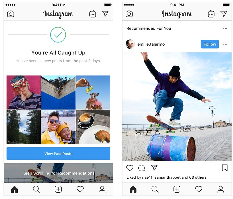 instagram-tests-recommended-posts-feed