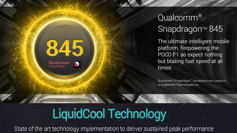 POCO F1 confirmed to come with Snapdragon 845 SoC and liquid cooling system