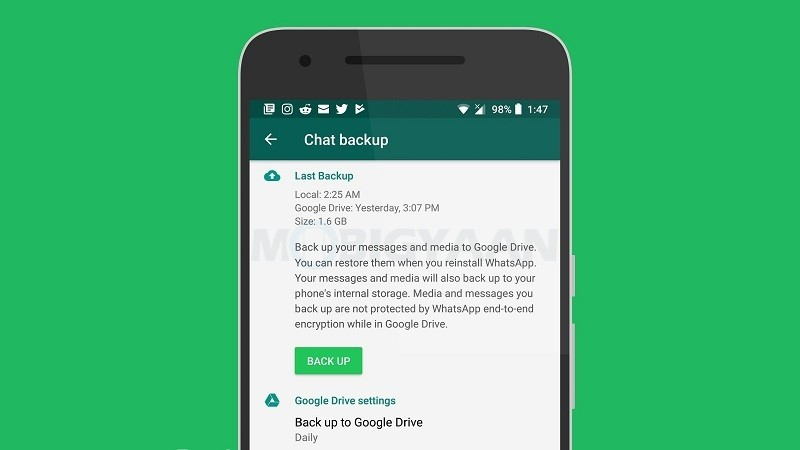 WhatsApp backups will no longer count towards Google Drive