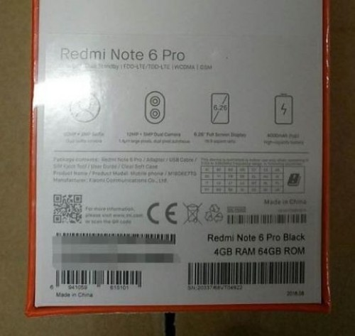 Xiaomi-Redmi-Note-6-Pro-specs-revealed-by-leaked-images-features-quad-cameras