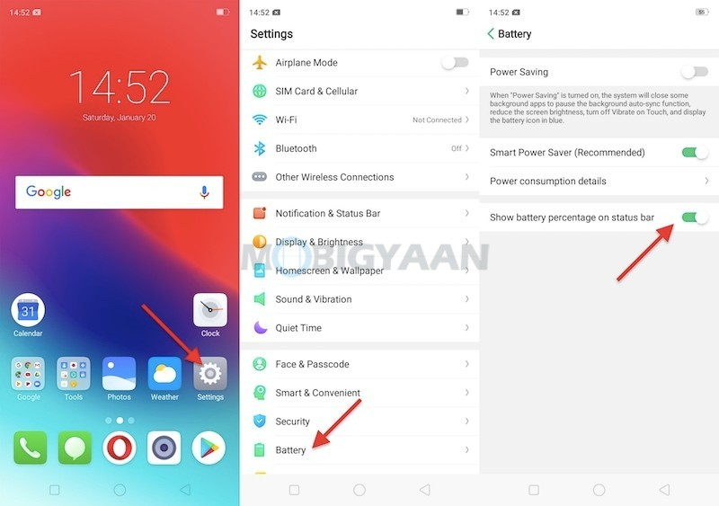 How-to-view-battery-percentage-on-Realme-C1-Guide-1