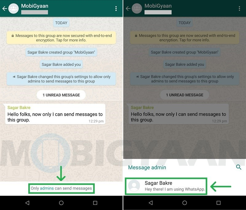How to stop members from sending messages in WhatsApp group