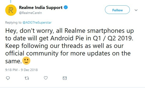 realme-smartphons-android-pie-update-q1-q2-2019