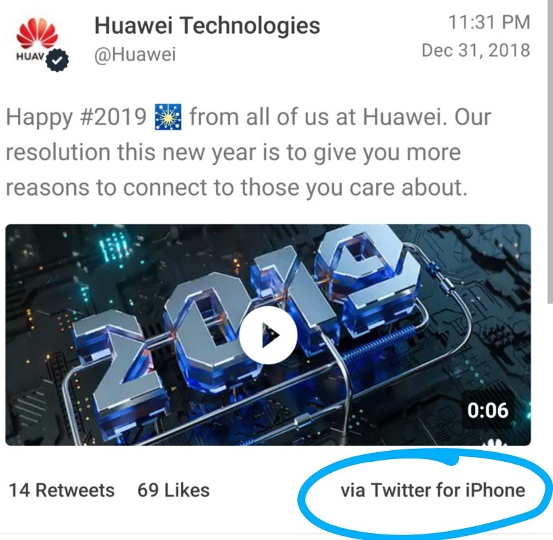 huawei-trolled-new-year-tweet-iphone