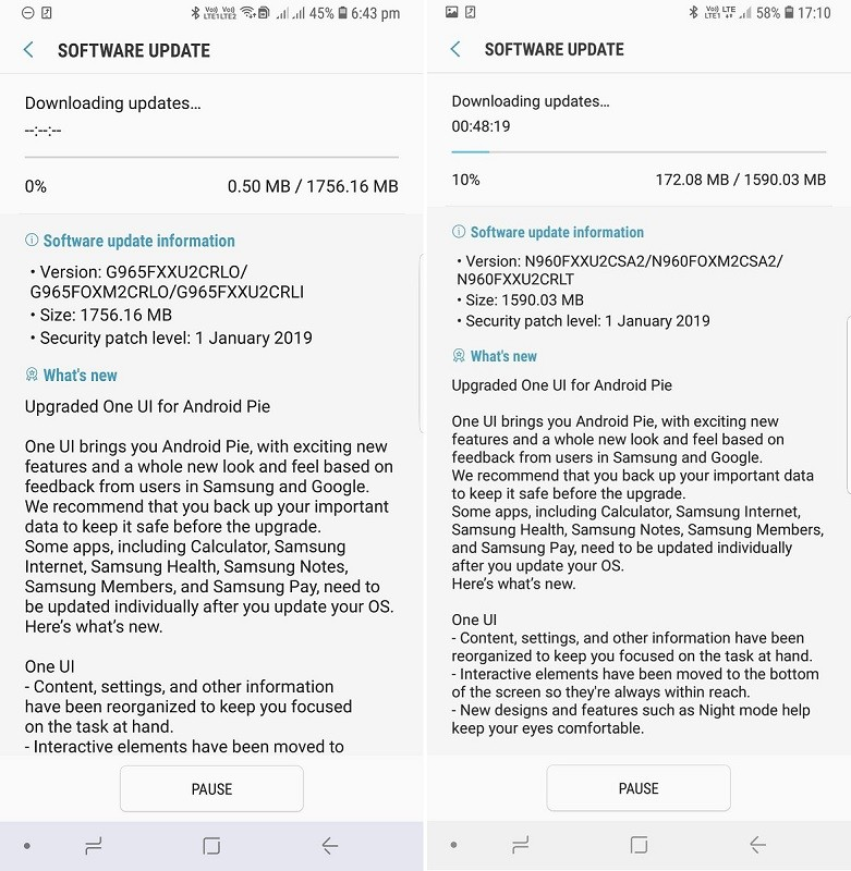 samsung-galaxy-s9-s9-plus-note9-android-9-pie-update-india