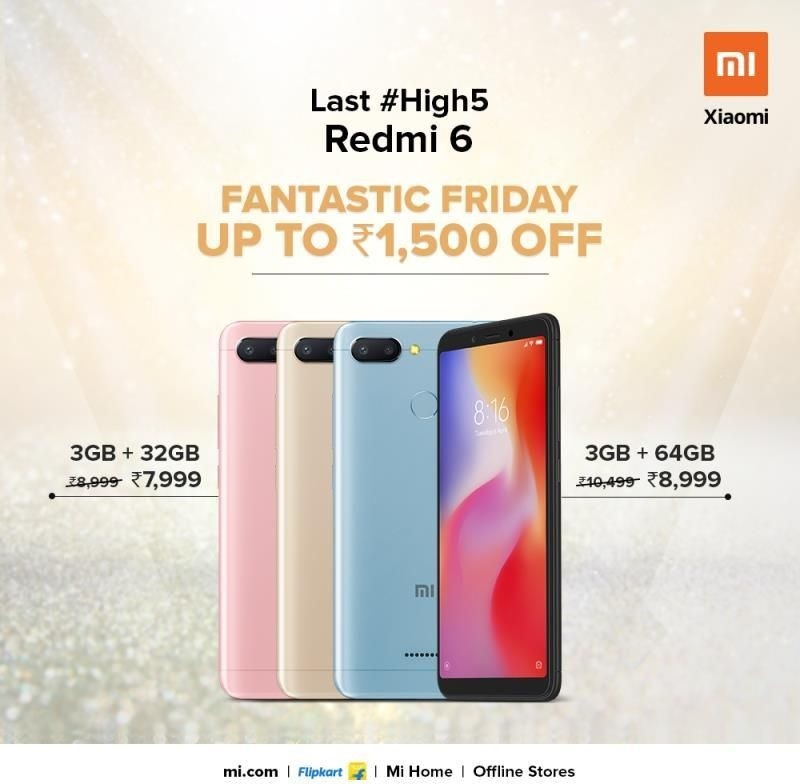 xiaomi-redmi-6-india-price-cut