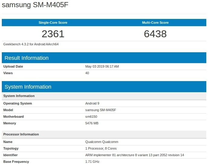 galaxy-m40-geekbench