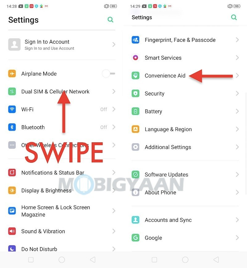 How-to-take-three-finger-screenshots-on-Realme-X-Guide-1