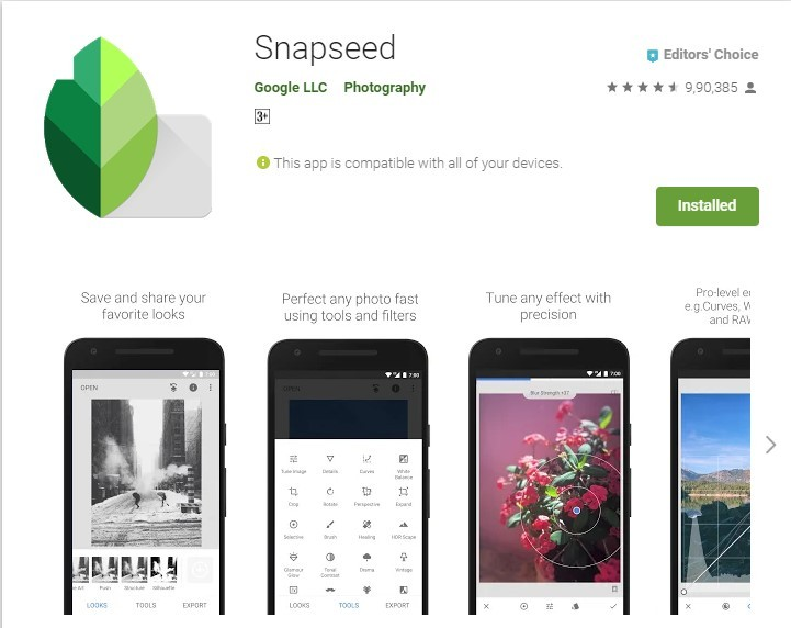 Snapseed-Play-Store