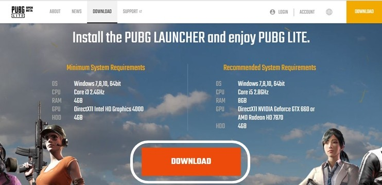 PUBG-Download-Page
