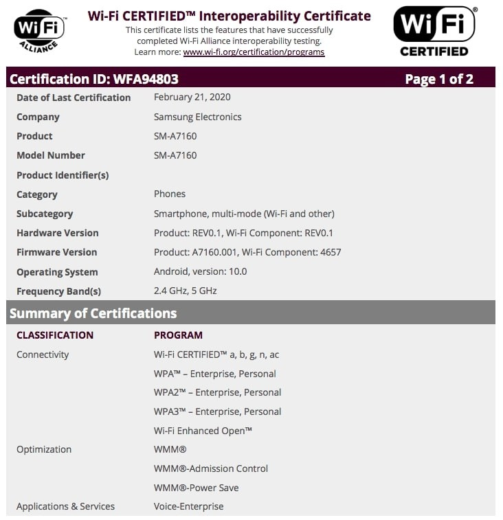 samsung-galaxy-a71-5g-wifi-certification