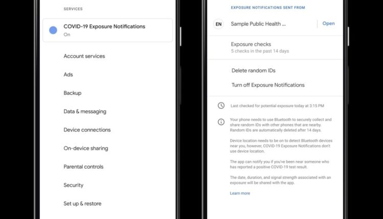 COVID-19 Exposure Notification API Android