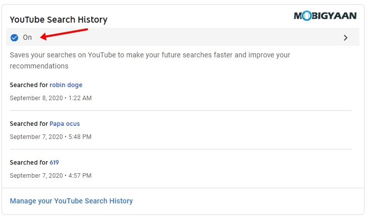 Manage-Search-History
