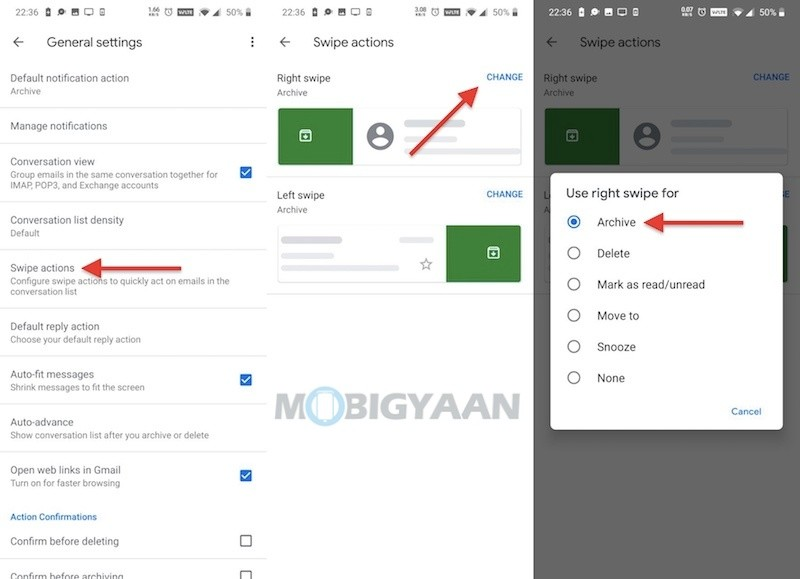 How-to-change-swipe-actions-in-Gmail-app-Android