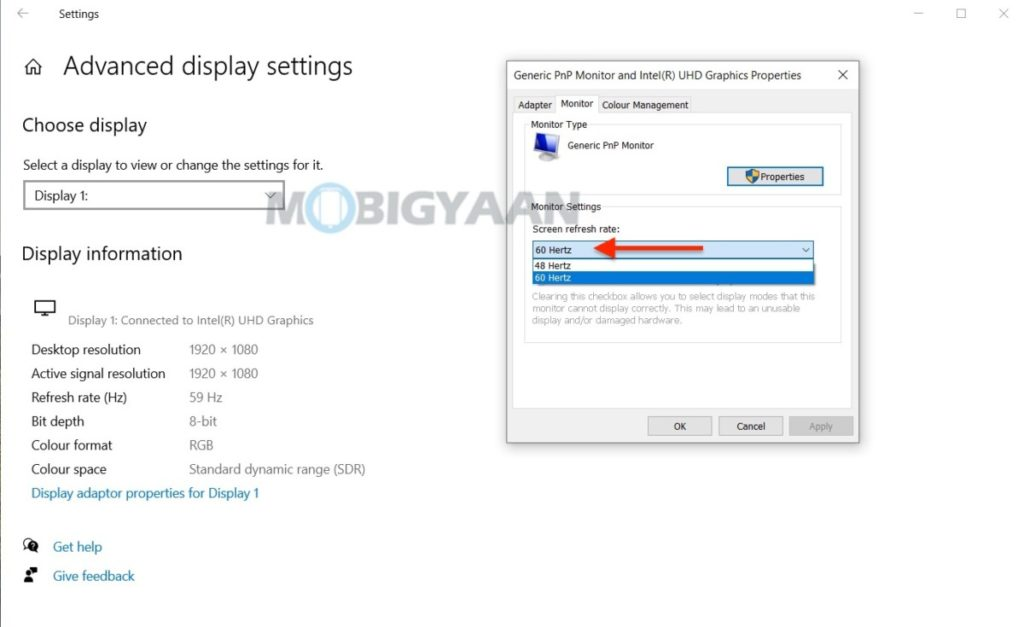 How-to-change-the-refresh-rate-of-the-display-on-Windows-10-4-1024x627
