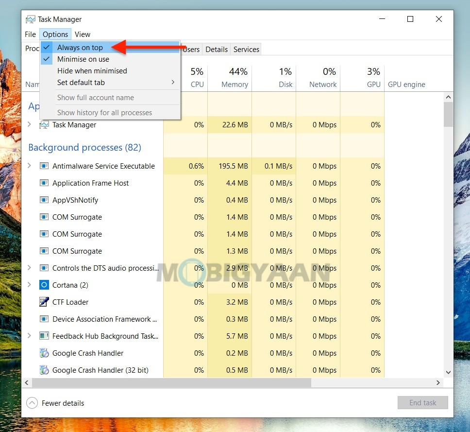 How-to-keep-Task-Manager-always-on-top-in-Windows-10