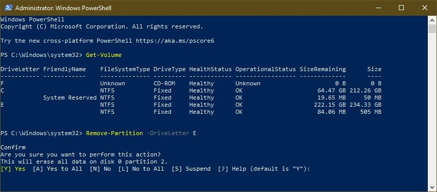 Remove-Partition-PowerShell-2