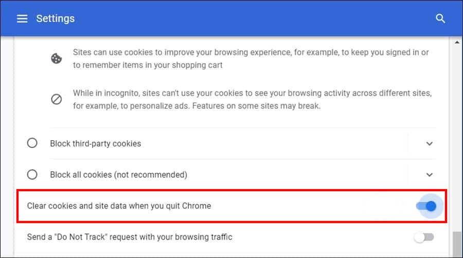 Clear-Cookies-Chrome-Exit
